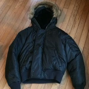 Ralph Lauren hooded black parka